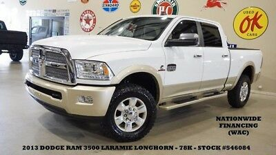 2013 Dodge Ram 3500 13 RAM 3500 LARAMIE LONGHORN 4X4,DIESEL,NAV,BACK-U 13 RAM 3500 LARAMIE LONGHORN 4X4,DIESEL,NAV,BACK-UP,HTD/COOL LTH,78K,WE FINANCE!