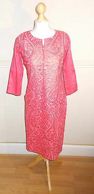 Ladies/ Women / Girl's Pakistani/Indian Embroided Kurta/Kurti / Pink Color