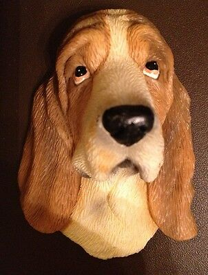 Basset Hound Adorable Realistic 3D Sturdy Rubber Magnet~New!