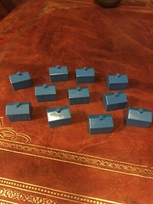 Monopoly Junior Vintage Board Game Parts 11 Blue Houses Only Other Parts Listed