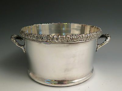 Antique 19th C Silverplated CHARLES COLLINS Sheffield Plate Magnum Wine Coaster