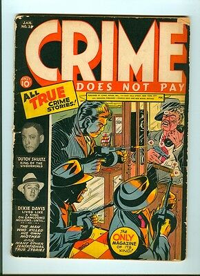 CRIME DOES NOT PAY  #25  Classic violent cover!
