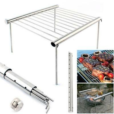 Outdoor stainless steel tube barbecue stent portable BBQ shelves  free shipping