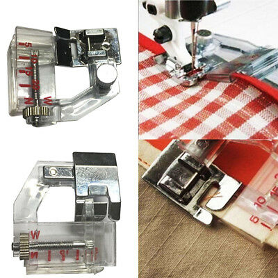 Adjust Bias Tape Binder Foot Snap On For Singer Janome Brother Sewing Machine