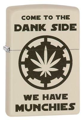 Zippo Windproof Lighter With Marijuana Leaf and Dank Side, 29590, New In Box