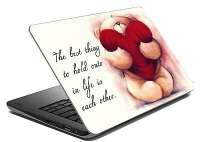 """Love Laptop Skin Notebook Sticker Cover Art Decal Fits 14.1"""" To 15.6"""