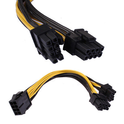CPU 8Pin to Graphics Video Card Double PCI-E PCIe Power Supply Splitter Cable A~