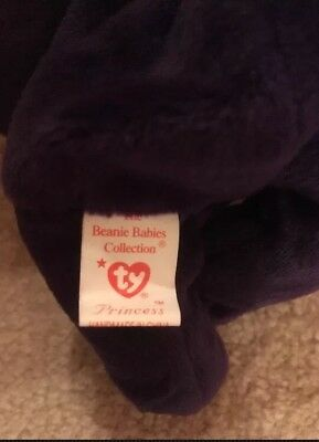 TY Princess Diana Beanie Baby *RARE 1997 1st edition made in China P.E. Pellets