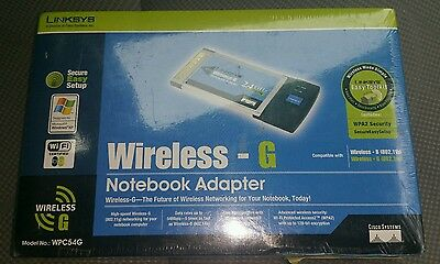 Linksys Wireless-G Notebook Adapter WPC54G 2.4 Ghz Cisco Systems Windows PC A6