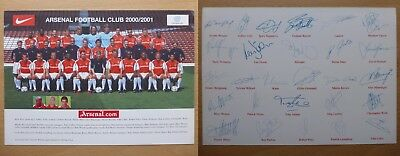 Official Arsenal Original Double Sided Squad Signature Cards