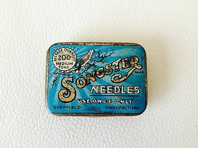 Vintage Songster Gramophone Needles Tin Rare Sheffield England