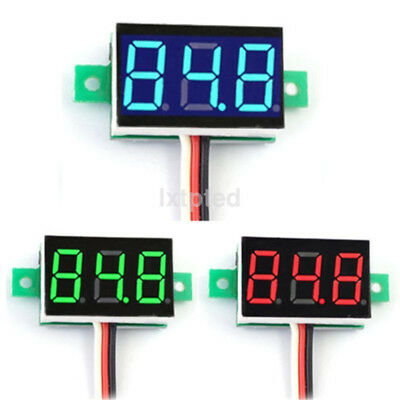 Mini DC 0-100V LED 3-Digital Diaplay Voltage Voltmeter Panel Meter with 3 Wires~