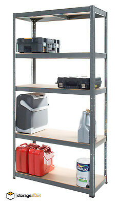 Garage Shelving Unit 5 Tier Boltless Metal Racking Shelf Storage