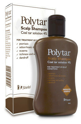 New- Polytar Scalp Shampoo Coal Tar Solution 4% - 150Ml