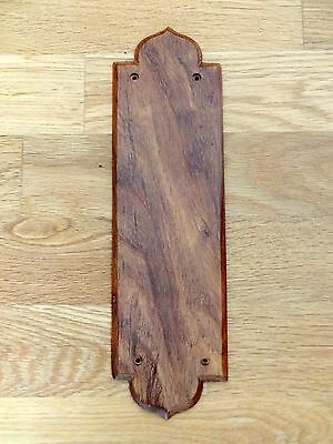 Rosewood Finger Door Push Plates Fingerplate Wooden Wood