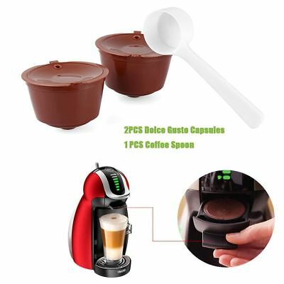 2Pcs Refillable Dolce Gusto Coffee Capsule Nescafe Dolce Gusto Reusable Capsule