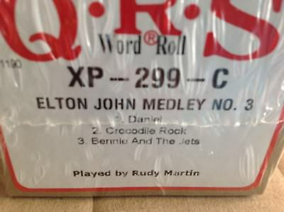 ELTON JOHN NO. 3  Crocodile R.. + 2    NEW LONG  PLAY PIANOLA PLAYER PIANO ROLL