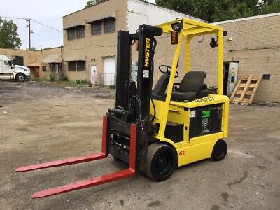 2006 Hyster Electric Forklift With Side Shift And Fork Positioner