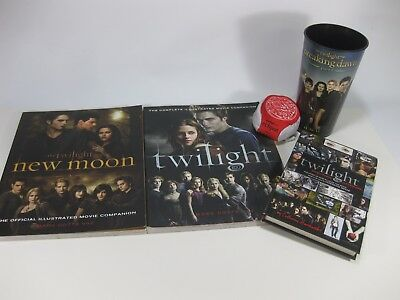 Twilight Saga Books Cup Hacky Sack Promotion Lot New Moon Eclipse Breaking Dawn