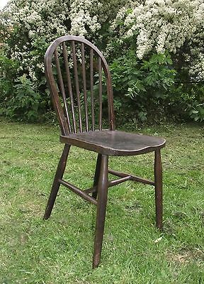 Hoop Back Elm Dining / Kitchen / Office Chair - 1920's or 30's