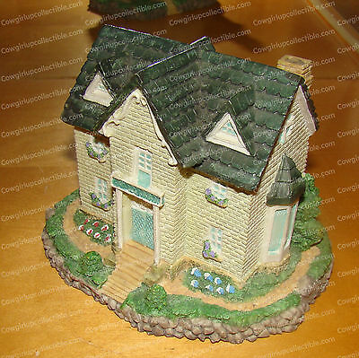 CAMBRIDGE HOUSE (Stone Resin, Hand Painted) Olde England's Classic Cottage