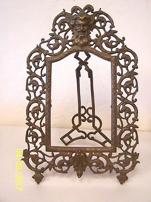 Vintage Brass Photo / Picture Frame with Northwind Face