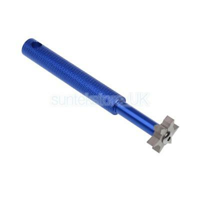Golf Club Sharpener and Groove Cleaner - 6 Heads Sharpening Tool Blue