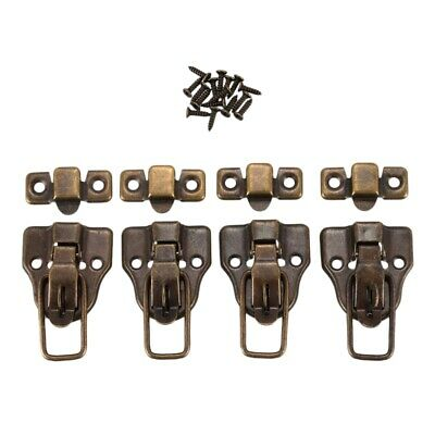 Boxes Duckbilled Metal Toggle Latch Catch Hasp Bronze Tone 4PCS Z4Y9