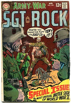 Our Army At War #205 1969-DC War comic- Sgt Rock G