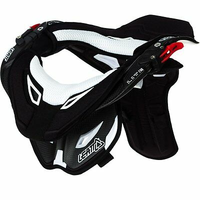 Leatt DBX Pro Lite Bicycle Neck Brace Carbon/White 1000210014 Small/Medium
