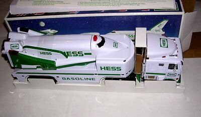 Hess Toy Truck Space Shuttle Satellite w/Box Lights Sounds Vintage 1999 NEW MINT