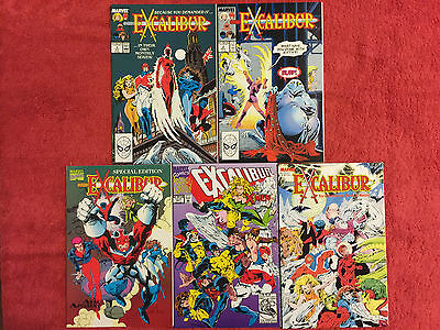 Excalibur 1 2 Sword is Drawn, XX Crossing, Air Apparent Marvel LOT of 5 VF+