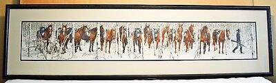 Two Indian Horses Bev Doolittle Signed, Limited Edition!  Framed Lithograph