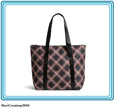NWT Vera Bradley Large Lunch Cooler Family Bag Tote in Minsk Plaid #17827-429