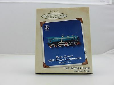Hallmark Christmas Ornament Lionel BLUE COMET 400E STEAM LOCOMOTIVE NEW 2002