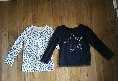 Osh Kosh leopard and Okie Dokie glitter star 4t tops.