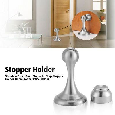 Stainless Steel Door Floor Magnetic Stop Stopper Holder/Catch Home Office Use EB