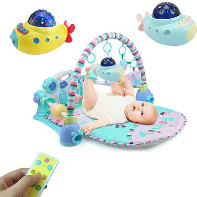 Musical Crib Mobile Bed Bell Baby Rattle Rotating Bracket Projecting Toys