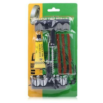 Auto Car Tubeless Tyre Puncture Plug Tire Repair Bike Motorcycle Cement Tool Kit