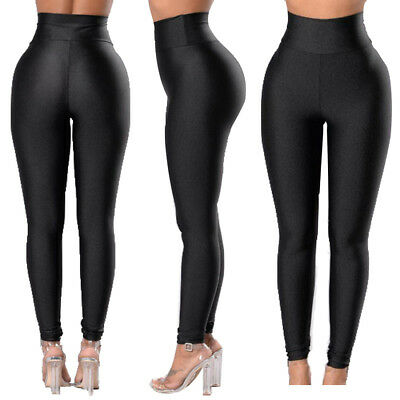 Women High Waist Sports Gym Yoga Running Fitness Leggings Pants Workout Trousers