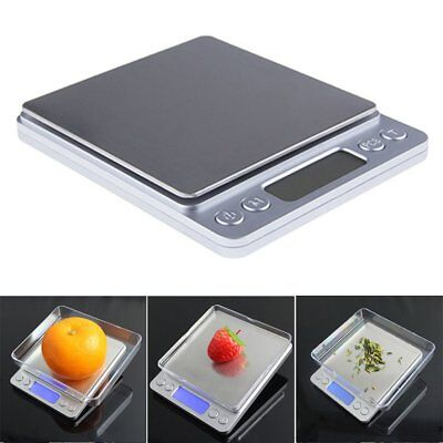 Silver Pocket Electronic Scale with LCD Display Digital Weighing Herbs Jewellery