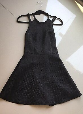 Girls Women Black Shimmer Summer Skater Style Dress Abercrombie And Fitch Size S