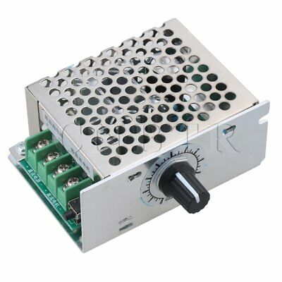 DC 12-48V 10A Rated Current Motor Switch Speed Controller Blue Silver