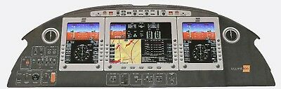 """Rare Large Photo (51.75"""" by 18.5"""") of Eclipse 500 Instrument Panel"""