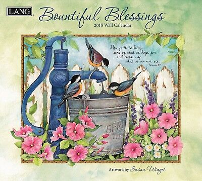 NEW Bountiful Blessings Susan Winget 2018 Lang Calendar Packed Well Free Postage