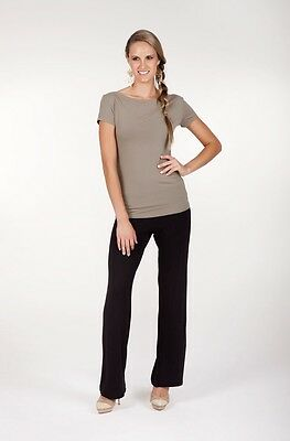BNWT Bamboo Body Essential Pants Black suit maternity Sz (L) 14 (trousers work)