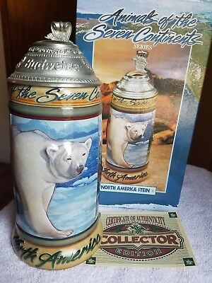 BUDWEISER AB Anheuser Busch Animals of the Seven Continents Stein North America