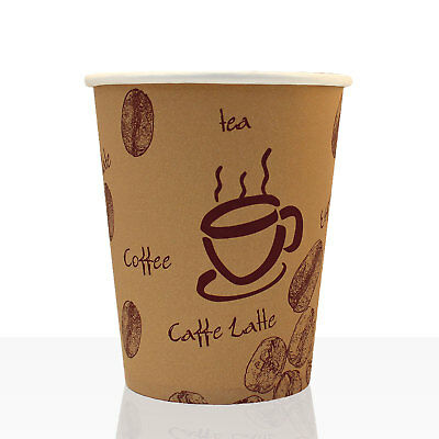 Coffee to go - Hartpapier - Becher 0,2l, 1000 Stk, Größe 200ml/8oz