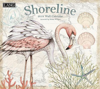NEW Shoreline by Susan Winget 2018 Lang Calendar Packed Well Free Postage