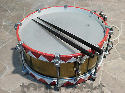 """old  SONOR 14 """" MARCHING SNARE DRUM pre WWII Marschtrommel"""